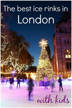 Best places to ice skate in London with kids - from temporary Christmas ice rinks in London, in the shadow of some of its historic buildings, to year-round family ice skating, I round up the best in the UK's capital. Days Out In London, London With Kids, Things To Do In London, Days Out With Kids, Family Days Out, Christmas Travel, Holiday Travel, White Christmas, Camping Holiday