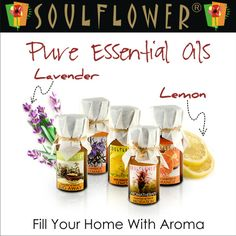 Soulflower Essential Oils are 100% pure steam distilled concentrated extracts from various plants and herbs.