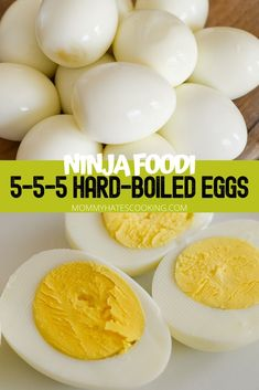 Learn how to make hard-boiled eggs in the Ninja Foodi with the method. This is the perfect way to make hard-boiled eggs quickly! Learn how to make hard-boiled eggs in the Ninja Foodi using the method. Baked Hard Boiled Eggs, Cooking Hard Boiled Eggs, Perfect Hard Boiled Eggs, Cooking Eggs, Instant Recipes, Instant Pot Dinner Recipes, Hot Pot, Cookies Subway, Cobb