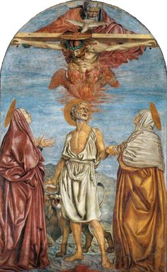 Andrea del Castagno, The Holy Trinity, St Jerome and Two Saints, c. 1453, (fresco), SS. Annunziata, Florence