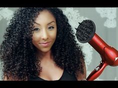 How to get BIG CURLY HAIR with a diffuser! | BiancaReneeToday - YouTube