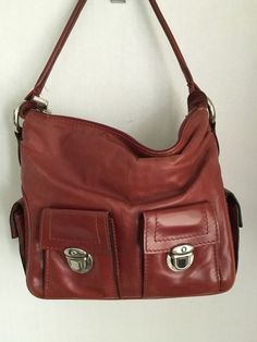 0fc15f0cdffd MARC JACOBS Handbag Brown Burgundy leather 4 outer pockets hobo  MarcJacobs   ShoulderBag Marc Jacobs
