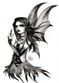 Gothic Drawings | gothic fairy by soeraven traditional art drawings fantasy 2012…