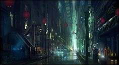Creative   Endless Streets D Sci Fi Cyberpunk City Picture Image