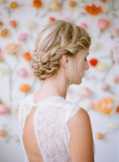 Side braid chignon