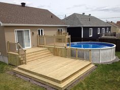 Stock Tank Pools to be an Oasis on Your Backyard. When you go searching for … Stock Tank Pools to be an Oasis. Patio Diy, Wood Patio, Diy Deck, Concrete Patio, Backyard Patio, Patio Decks, Patio Bench, Patio Seating, Decking