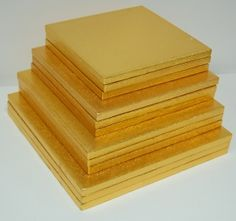 SQUARE Cake boards -GOLD 13mm