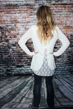 Lacey Back Sweater