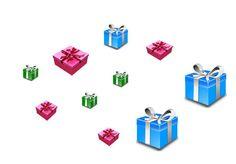 Zad. 1 - Otocz pętlą prezenty tego samego koloru, - Jakiego koloru prezentów jest najwięcej? - Których prezentów jest więcej zielonych, czy niebieskich?