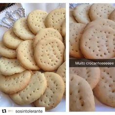 Receita de Bolacha Maria sem Glúten, Lactose, Ovo e Soja! Produtos para dietas especiais você compra online aqui no Empório Ecco: https://www.emporioecco.com.br/