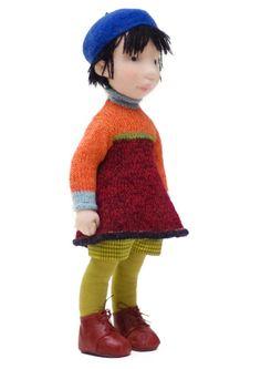 Mia Handmade cloth doll by AldegondeCeelen on Etsy