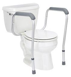 Ordinaire Handicap Grab Bars Toilet Safety Rail Adjustable Seat Assist Elderly  Bathroom #Healthline