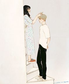 Aesthetic Anime, Aesthetic Art, Couple Illustration, Illustration Art, Gif Bonito, Cute Love Gif, Cute Couple Art, Dibujos Cute, Couple Drawings