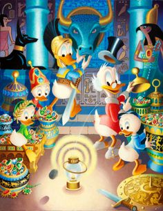 Scrooge McDuck With Donald and Huey, Louie and Dewey 2327 x 3000