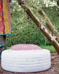 Give Your Old Used Tires a New Purpose: outdoor seating
