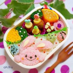 posted from @MysticyQin Easter bunny bento posted from @Jndchtn イースターバニー弁当♡ #obentoart #キャラ弁