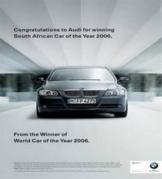 Congrats to Audi for winning South African Car of the Year in 2006.    From the winner of world car of the year 2006.
