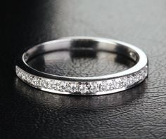 Gorgeous .21ct Diamond Solid 14K White Gold Wedding by EasyGem, $239.00