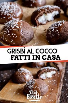 Grisbì al Cocco Fatti in Casa - cucina - Quinoa Recipes Italian Chocolate, Biscotti Cookies, Little Cakes, Nutella, Cupcakes, Chocolate Recipes, Chocolates, Sweet Recipes, Cookie Recipes