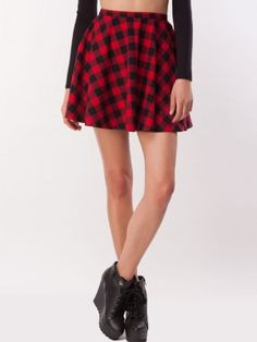 CATWALK88 Tartan Check Skater Skirt purchase from koovs.com