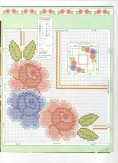 Beaded Cross Stitch, Cross Stitch Flowers, Chicken Scratch, Prayer Rug, Bullet Journal, Embroidery, Creative, Floral, Pattern