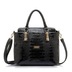OPPO casual women PU leather luxury handbags soft alligator totes bag large zipper  shoulder bags  68.99 003238d8b5