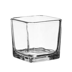 Square Glass Candleholders, 3 in.