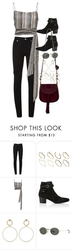 """""""Untitled #10709"""" by nikka-phillips ❤ liked on Polyvore featuring McQ by Alexander McQueen, ASOS, BY. Bonnie Young, Yves Saint Laurent, Maria Francesca Pepe, Ray-Ban and Chloé"""