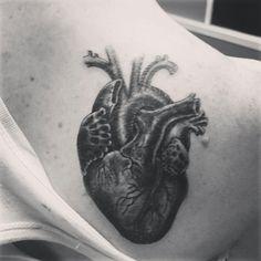 Tattoo heart anatomic