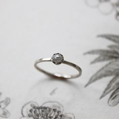 :: Please note, this is a one-off item only due to the irregular nature of the stones, so the ring pictured here is the actual ring you will receiv. Simple Elegant Engagement Rings, Ring Pictures, Rose Cut Diamond, Fine Jewelry, Jewellery, Vintage Inspired, Heart Ring, White Gold, Wedding Rings