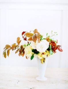 gorgeous autumnal flower arrangement