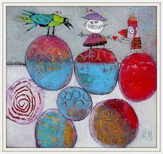 - L'art de la FIBRITE / papier mâché,peinture en relief (ventes au profit de l'association Julien : www.assocjulien.canalblog.com)