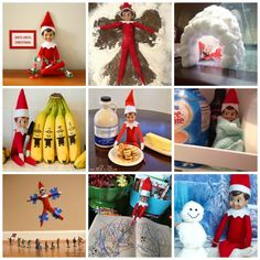 30 absolutely lovely ideas for Elf on the Shelf. by Little Button Diaries Christmas Crafts For Kids, Christmas Elf, Elf Names, Tis The Season, Elf On The Shelf, Sewing Projects, Diaries, Shelf Ideas, Shelves