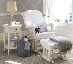 Shop gliders from Pottery Barn Kids. Find expertly crafted kids and baby furniture, decor and accessories, including a variety of gliders. Nursery Room, Girl Nursery, Girl Room, Elephant Nursery, Royal Nursery, Nursery Rocker, Nursery Chairs, Glider Cushions, Glider And Ottoman