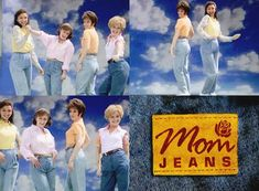 "Mom Jeans, my fav SNL skit.     ""Give her something that says  'I'm not a woman anymore, I'm a mom"".  To view: http://www.hulu.com/watch/10333/saturday-night-live-mom-jeans"