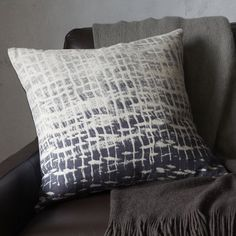 Batik Ombre Pillow Cover | west elm : But we could make! kind awesome, ombre, dip-tie styles, white and dark indigo! yum
