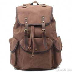 Hanshu Outdoor Sports Casual Canvas Sling Bag, Hiking Bag, Vintage Camping Bag * You can get additional details, click the image : Day backpacks Lace Backpack, Vintage Leather Backpack, Leather Backpack For Men, Backpack Bags, Travel Backpack, Leather Backpacks, Laptop Backpack, Leather Bag, Travel Bags