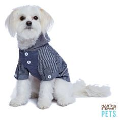 Martha Stewart Pets® Printed Chambray Hoodie | Sweaters & Coats | PetSmart