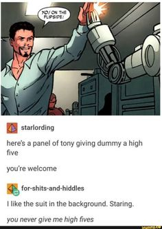 You never give me high fives