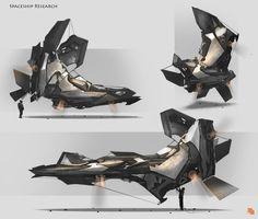 Geometric Spaceships Sketch by llamllam on deviantART