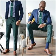 Inexperienced tie pants - Suit World Business Casual Men, Business Fashion, Men Casual, Mens Fashion Suits, Mens Suits, Black Men Street Fashion, Gentlemen Wear, Look Man, Herren Outfit