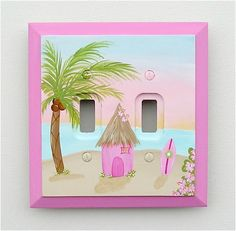 Shared Room Theme 'Surf'' - Girls Surf Wall Plates