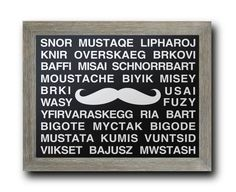 Mustache Languages Movember    Multiple Different by DandWElements, $10.00