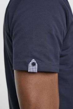 Image 5 of PIQUÉ POLO SHIRT WITH SLEEVE TAB from Zara Mens Polo T Shirts, Pique Polo Shirt, Mens Tees, Men Shirt, T Shirt Label, Shirt Collar Styles, Polo Shirt Design, Kurti Sleeves Design, Mens Kurta Designs