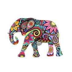 Elephant Car Decal Colorful Design Bumper Sticker by MeganJDesigns, $8.00