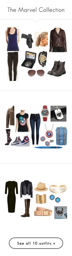 """""""The Marvel Collection"""" by bellilou42 on Polyvore featuring Daytrip, LAmade, Neiman Marcus, yeswalker, Tom Ford, Bling Jewelry, Hershesons, Hybrid Tees, Marvel and Cufflinks, Inc."""