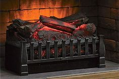 Duraflame Electric Log Set Heater with Realistic Ember Bed, Black Realistic Electric Fireplace, Portable Electric Fireplace, Electric Fireplaces Direct, Electric Fireplace Reviews, Electric Logs, Portable Electric Heaters, Wall Mount Electric Fireplace, Portable Heater, Wall Mounted Fireplace