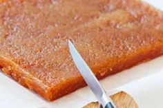a delicious recipe for quince paste.