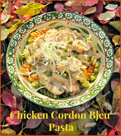 Chicken Cordon Bleu Pasta Recipe, No need to roll fold or stuff with this recipe, it all comes together in a creamy sauce with all the great...