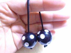 Begleri Black Polka Dots Begleri Begleri beads by OneOfferJewelry